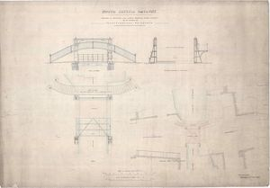 Drawings of Footbridge and Lifting Roadway Bridge Proposed to be Erected at Fountainbridge