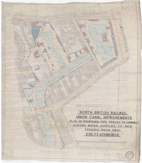 North British Railway Union Canal Improvements, Plan of Proposed Pipe Tracks to Connect