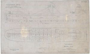 Trace of a Technical Docking Plan for the Dredger SS Carronwater