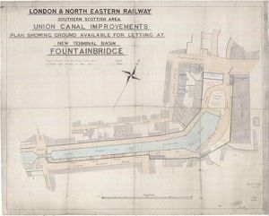 Union Canal Improvements. Plan Showing Ground Available for Letting at New Terminal Basin